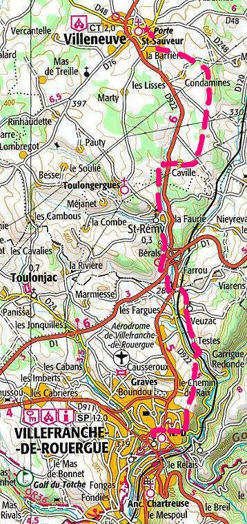 Villefranche De Lauragais: ETAPE 4 : VILLENEUVE D'AVEYRON -VILLEFRANCHE DE ROUERGUE